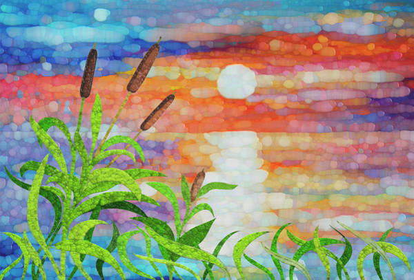 Spin Painting - Wisconsin Marsh Sunset by Jack Zulli