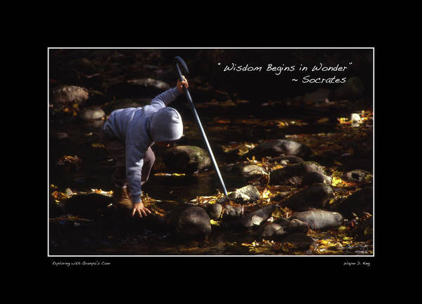 Photograph - Wisdom Begins In Wonder Poster by Wayne King