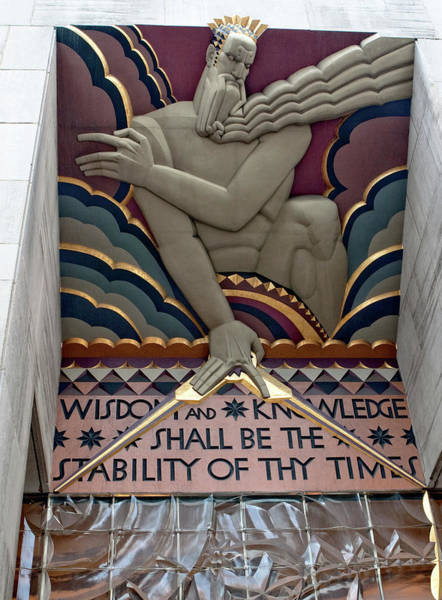 Wisdom Lords Over Rockefeller Center Art Print
