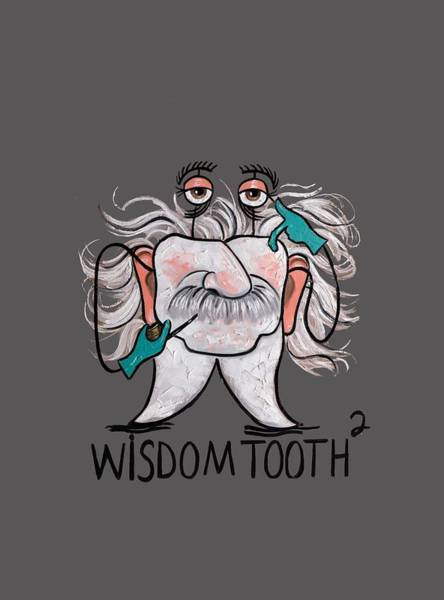 T-shirts Painting - Wisdom Tooth 2 T-shirt by Anthony Falbo