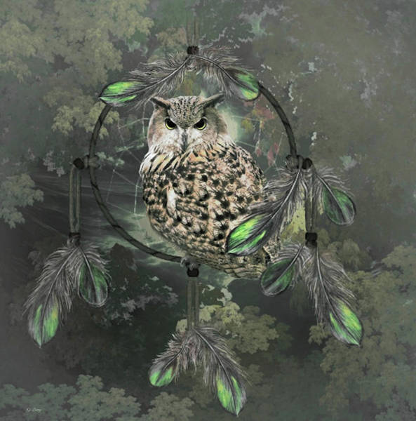 Wild Life Mixed Media - Wise Dreams 02 by G Berry