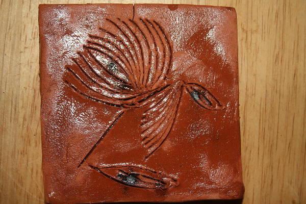 Ceramic Art - Wise Eyes - Tile by Gloria Ssali