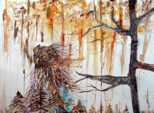 Painting - Wise Guardian Of The Forest by Pam Halliburton