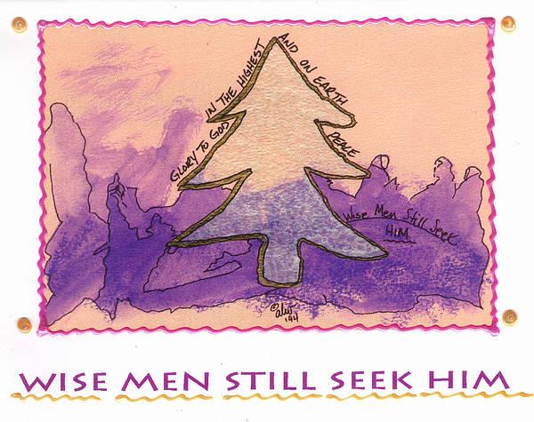 Wall Art - Mixed Media - Wise Men Still Seek Him by Angela L Walker
