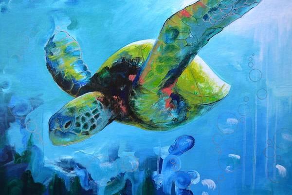 Animal Painting - Wise Ocean Traveler by Alec Falle Hamilton