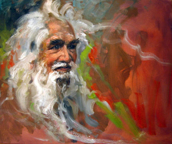 Wall Art - Painting - Wise Old Man by Andrew Judd