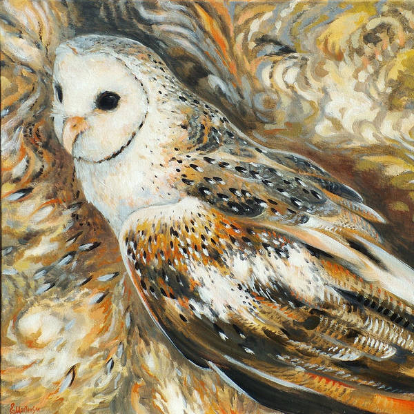Wall Art - Painting - Wise Owl 4 by Ekaterina Mortensen