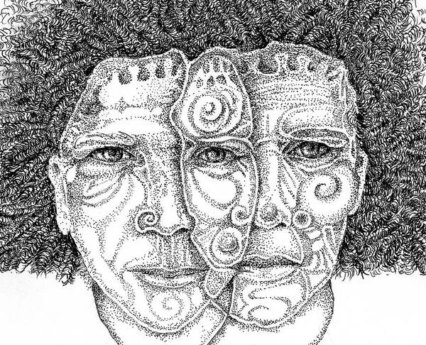 Drawing - Wise Words-two Heads Are Better Than One by Cora Marshall