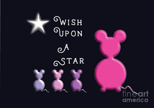 Digital Art - Wish Upon A Star by Barefoot Bodeez Art