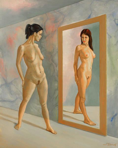Mirror Mirror Wall Art - Painting - Wishful Thinking by Paul Krapf
