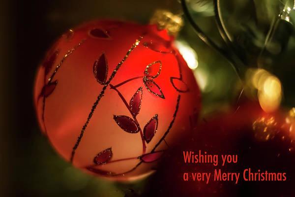 Photograph - Wishing You A Vary Merry Christmas Card by Sven Brogren