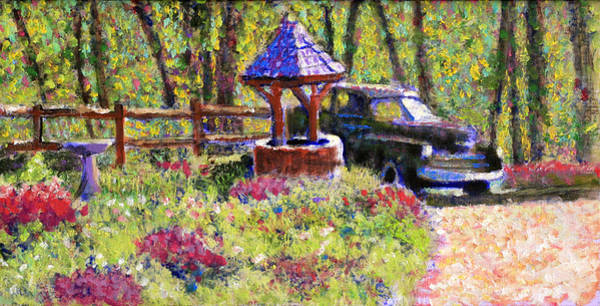 Wishing Well Painting - Wishing You Well by David Zimmerman