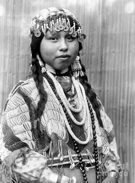 Photograph - Wishram Bride, C1910 by Granger