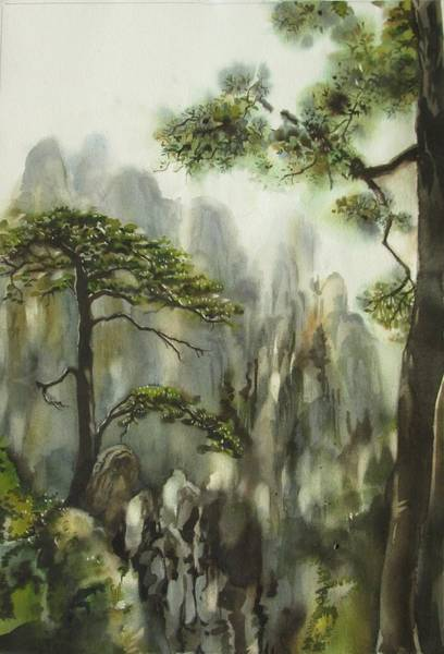 Painting - Wispering Pines by Alfred Ng