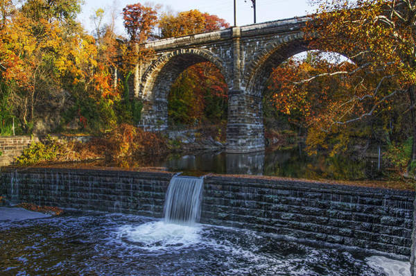 Photograph - Wissahickon Creek And Falls by Bill Cannon
