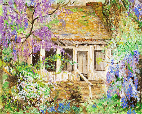 Painting - Wisteria House by Kathy Knopp