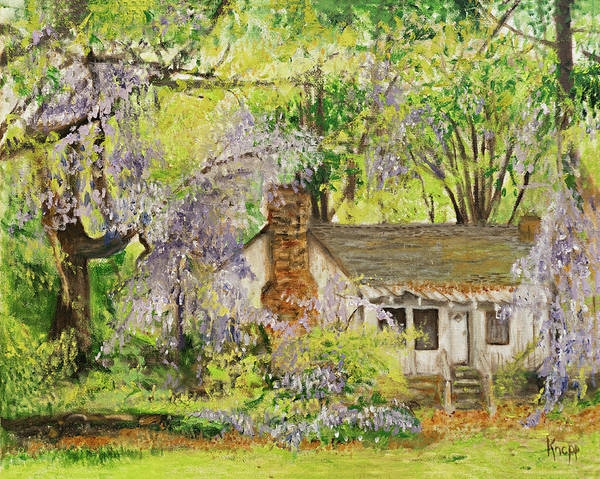 Painting - Wisteria House Two by Kathy Knopp