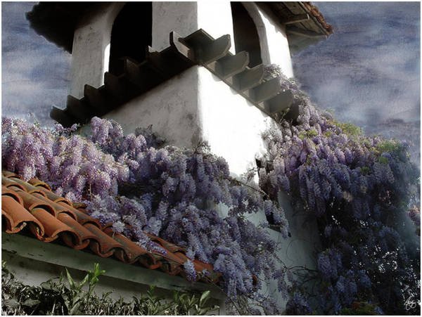 Photograph - Wisteria On A Roof by Wayne King