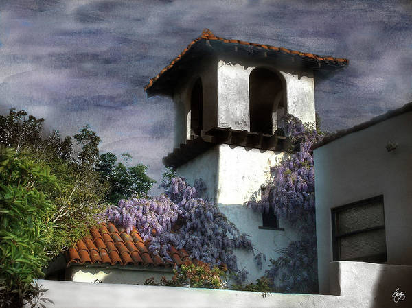 Photograph - Wisteria On A Spanish Tower by Wayne King