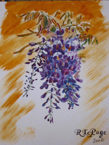 Painting - Wisteria by Richard Le Page