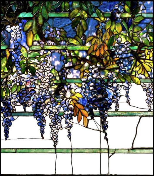 Pumkin Wall Art - Glass Art - Wisteria Stained Glass Window, Louis Comfort Tiffany by Thomas Pollart