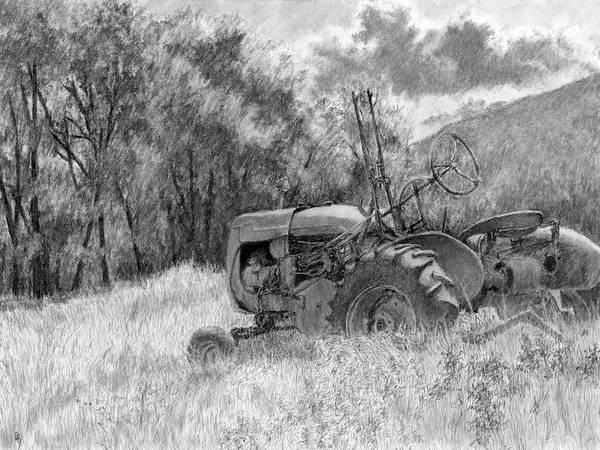Drawing - Wistful Bw by David King
