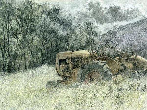 Rust Drawing - Wistful by David King