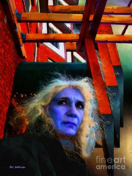 Painting - Witch On The Run by RC DeWinter
