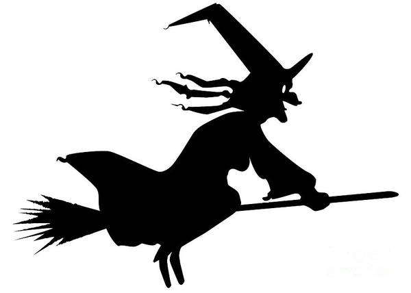 Ugly Digital Art - Witch With Broomstick by Bigalbaloo Stock