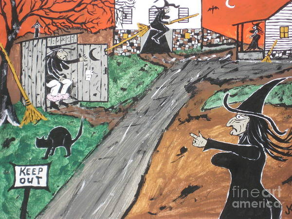Witches Outhouse Art Print