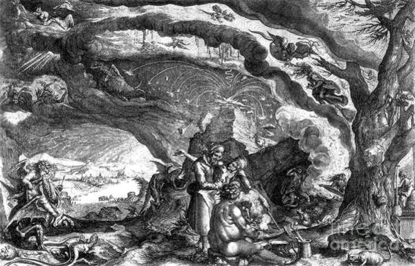 Putto Photograph - Witches Sabbath, 1700 by Science Source