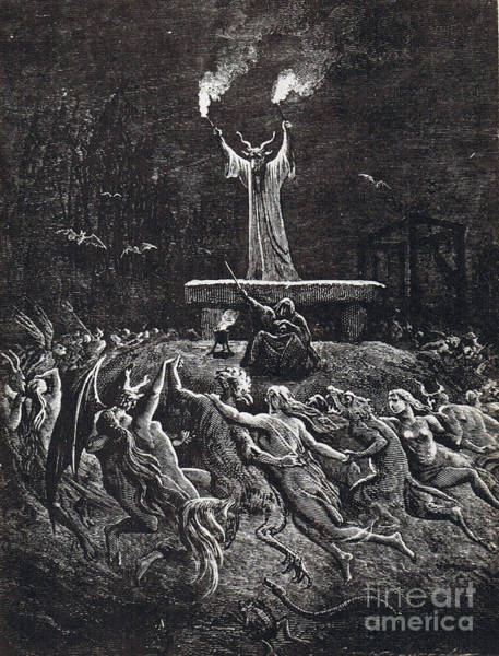 Putto Photograph - Witches Sabbath, 1884 by Science Source