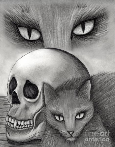 Drawing - Witch's Cat Eyes by Carrie Hawks