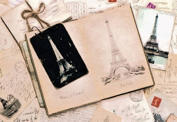 Love Letter Mixed Media - With Love From Paris by Susan Maxwell Schmidt