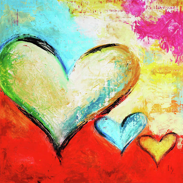 Wall Art - Painting - With Love by Ivan Guaderrama