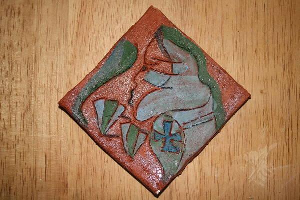 Ceramic Art - Witness - Tile by Gloria Ssali