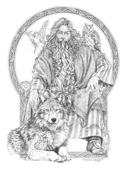Wizard Drawing - Wizard IIi - The Family Portrait by Steven Paul Carlson
