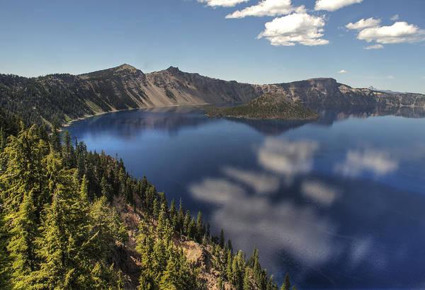 Crater Lake Np Photograph - Wizard Island by Doug Davidson