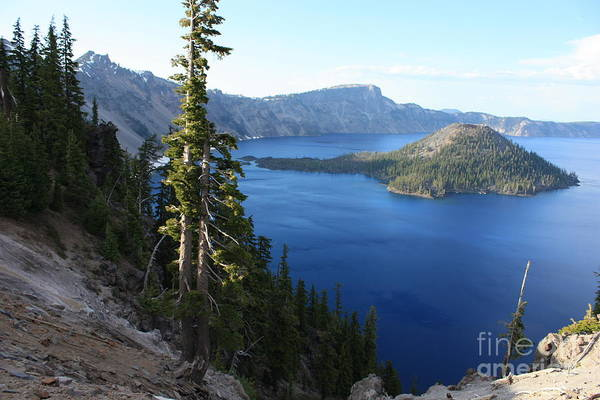 Photograph - Wizard Island On Crater Lake by Carol Groenen