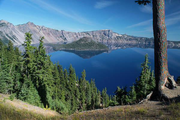 Photograph - Wizard Island On Crater Lake by Frank Wilson