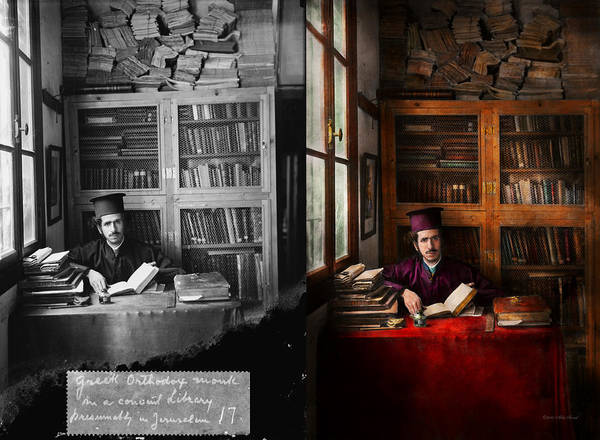 Wizard Hat Wall Art - Photograph - Wizard - Wizard In Training 1898-1946 - Side By Side by Mike Savad