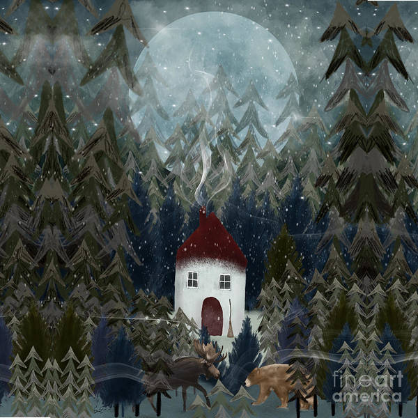 Dreamy Wall Art - Painting - Wizard Wood by Bri Buckley