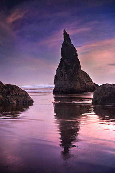 Sea Stacks Wall Art - Photograph - Wizard's Hat At Sunset by Andrew Soundarajan
