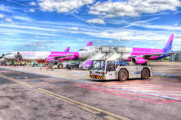 Wall Art - Photograph - Wizz Air Aircraft  by David Pyatt