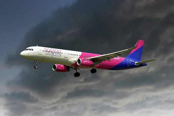 Commercial Photograph - Wizz Air by Smart Aviation