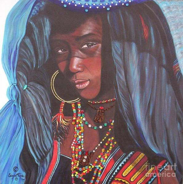 Painting - Virtuous Wodaabe Girl          From The Attitude Girls  by Sigrid Tune