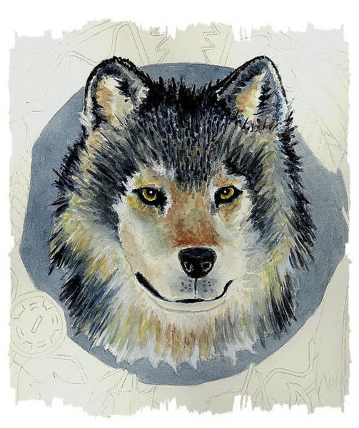 Wall Art - Painting - Wolf #3 by Michael Vigliotti