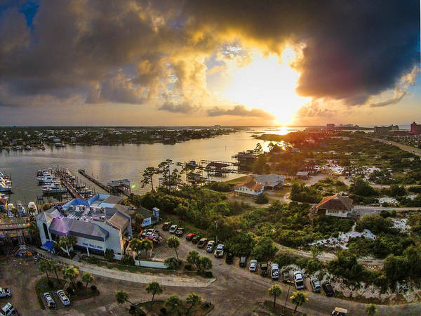 Photograph - Wolf Bay Lodge And Cotton Bayou Storm by Michael Thomas