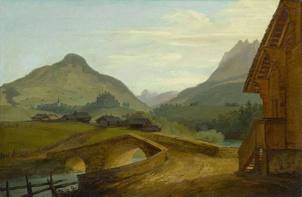 Painting - Wolf  Caspar Walls 1735  1783 Heidelberg The Stone Bridge At Chateau Doex by Artistic Panda