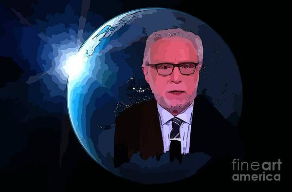 Television Program Painting - Wolf Covers The World by John Malone